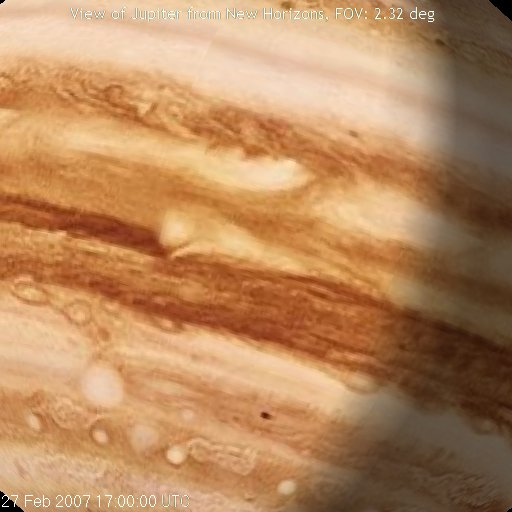 Jupiter close-up by New Horizons