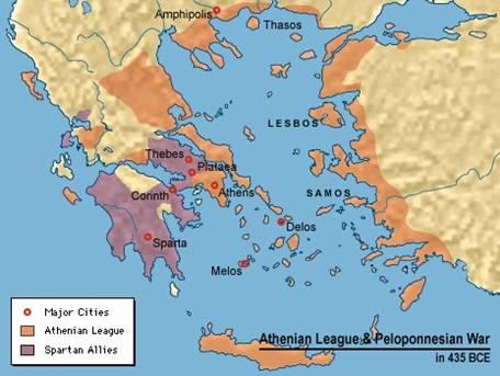 Liga ateniense y Guerra del Peloponeso
