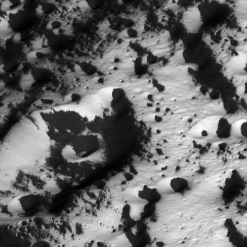 Coated Craters