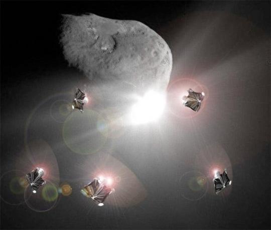 Asteroid deflection (M Vasile et al, University of Glasgow)