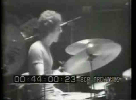 Scot Halpin playing drums with The Who