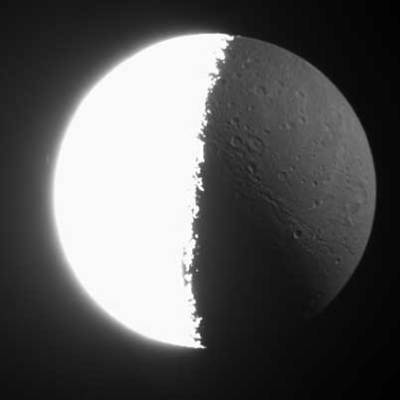 Dione Polar View - Long Exposure