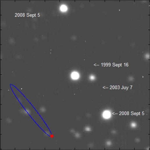 Movimiento de VB10 durante 9 años. Pulsar para ver un vídeo. Credit: NASA/JPL-Caltech/Palomar