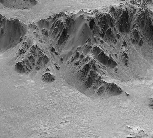 Detalle del Cráter Mojave