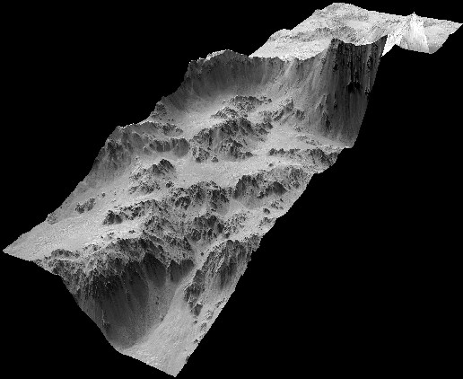 Walls in Crater Mojave 3D